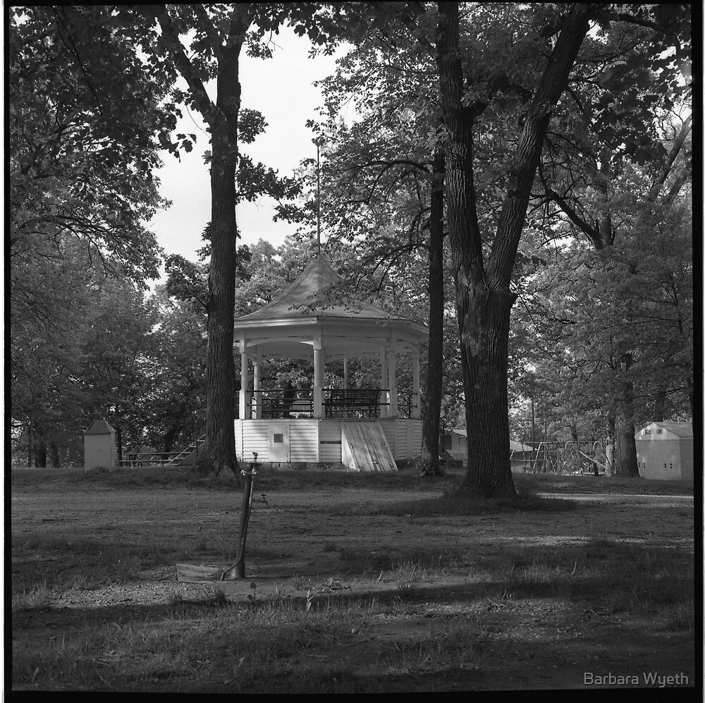 Bandshell, Traer, Iowa  by Barbara Wyeth