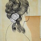 white flowers by Loui  Jover