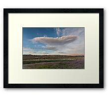 Spring Clouds - Reno Framed Print