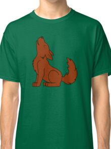 Solid Natural Red Howling Wolf Pup Classic T-Shirt