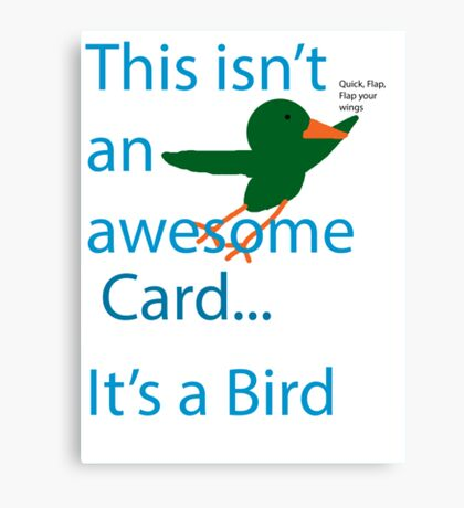 Not a Bird Canvas Print