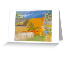 Golden Vineyards V Greeting Card