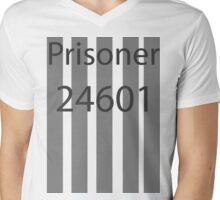 Les Miserables 24601 Mens V-Neck T-Shirt