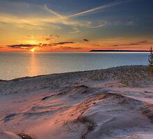 Sunset on Sleeping Bear Dunes National Lakeshore by DArthurBrown