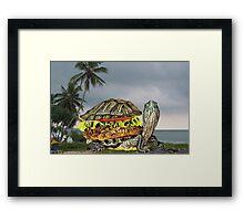 ☀ ツ LUNCH BEING SERVED ON TURTLE ISLAND (BUT..THE WAITER IS A LITTLE SLOW) ☀ ツ Framed Print