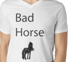 Bad Horse  Mens V-Neck T-Shirt