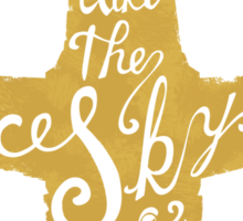 Free Skies (gold) Sticker