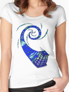 Timey Wimey Wibbly Wobbly Women's Fitted Scoop T-Shirt