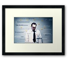 My Life is a Slogan Framed Print