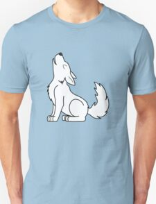 White Howling Wolf Pup Unisex T-Shirt