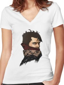 An Illusion Women's Fitted V-Neck T-Shirt