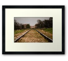 A Hobo's Yellow Brick Road Framed Print