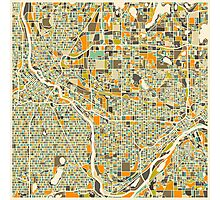 TWIN CITIES MAP Photographic Print