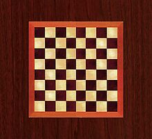 iPad Chess Board, Timber Over Technology by Ron Marton