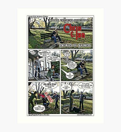 Fight Depression Art Print
