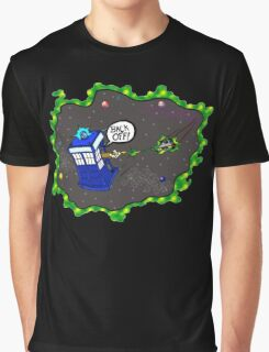 Tardis VS Delorean Graphic T-Shirt