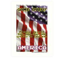 America The Game Art Print
