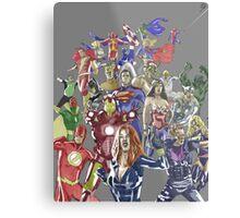 Justice League Avengers Metal Print