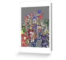Justice League Avengers Greeting Card
