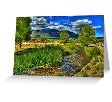 The Red Willow Creek on Taos Pueblo Greeting Card