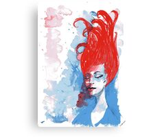 Reverie in red, white and blue Canvas Print