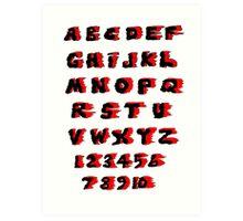 Alphabet on Fire Art Print