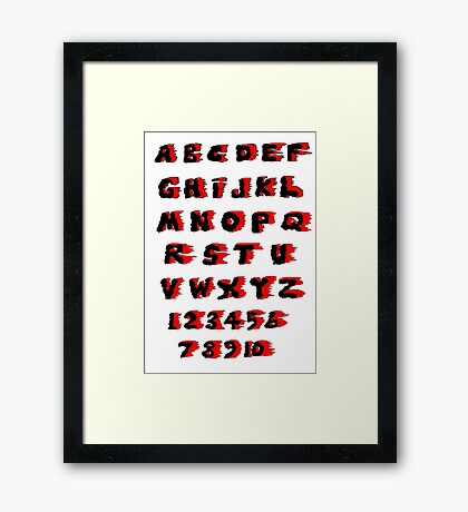 Alphabet on Fire Framed Print