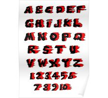 Alphabet on Fire Poster