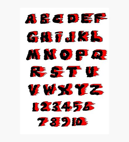 Alphabet on Fire Photographic Print