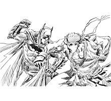 Batman and Ryu Photographic Print