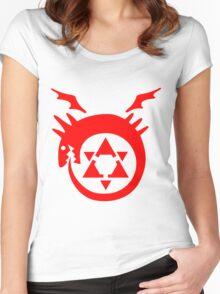 FullMetal Alchemist Uroboro [red] Women's Fitted Scoop T-Shirt
