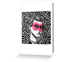 Bunhead - Rose coloured glasses Greeting Card