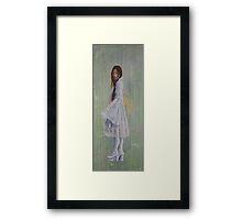 """The girl who tells you"" Framed Print"
