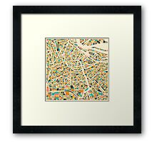 AMSTERDAM MAP Framed Print