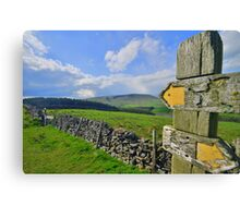 Lancashire: Witch Way to Pendle Hill ? Canvas Print