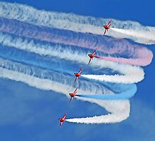 Smokin !! - The Red Arrows - Duxford 26.05.2013  by Colin J Williams Photography