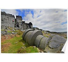 The Peak District: Millstones at Stanage Edge Poster