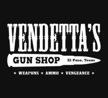 Vendetta's Gun Shop (White Print) by GritFX