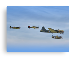 Sally B And Eagle Squadron - Duxford 26.05.2013 Canvas Print