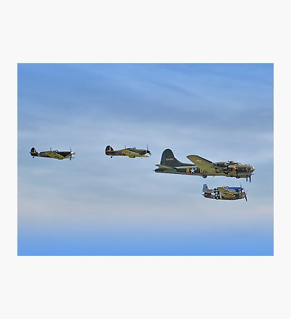 Sally B And Eagle Squadron - Duxford 26.05.2013 Photographic Print
