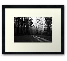 Foggy Mountain Top Framed Print