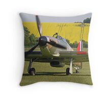 Paul Bonhomme In The Hurricane - Duxford 26.05.2013 Throw Pillow