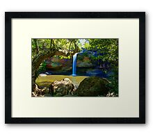 Khao Yai waterfall Framed Print