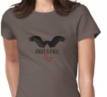 Angels Fall Rose Womens Fitted T-Shirt