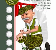 Grandad Golf Father's Day Greeting Card With Fun Cartoon Golfer by Moonlake