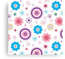vintage flower pattern line art. Vector illustration Canvas Print