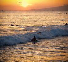Catching the wave by Chris Brunton
