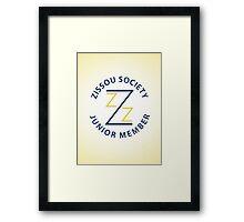 Zissou Society Junior Member Framed Print