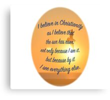 C.S. Lewis on Christianity Canvas Print