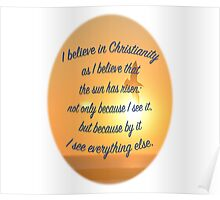 C.S. Lewis on Christianity Poster